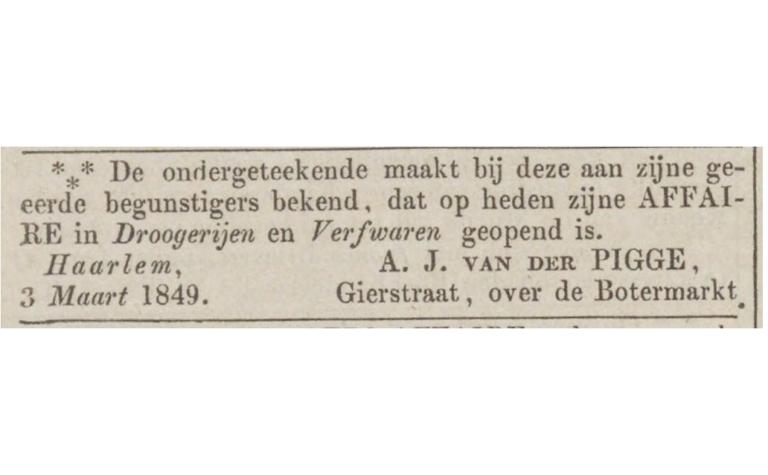 Van der Pigge is vandaag 170 geworden