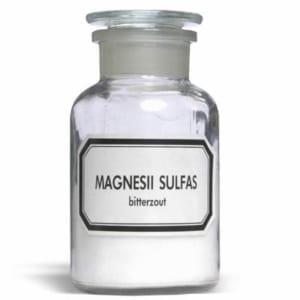 stopfles magnesiumsulfaat